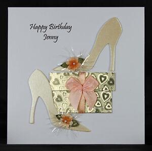 Personalised handmade ladies girls birthday card by bijou crafts image is loading personalised handmade ladies girls birthday card by bijou m4hsunfo