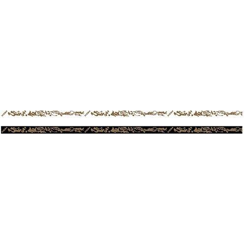 Xiom Kantenband Mandarin 12mm//50m schwarz//gold