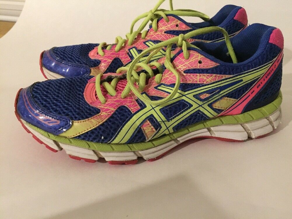 WOMEN'S ASICS GEL-EXCITE 2 RUNNING SHOES SIZE 9 bluee Pink Green