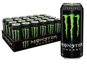 Monster Energy Drink, Green, Original, 16 Ounce (Pack of 24)/US