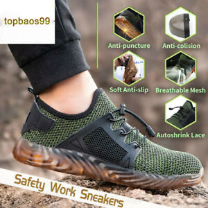 UK Mens Indestructible Ultra Steel Toe Safety Shoes Autoshrink  Boots Traniers