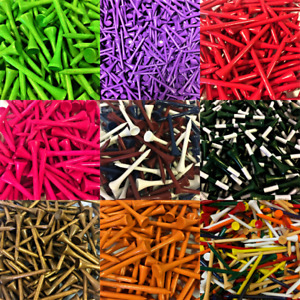 NEW Zero Friction Golf Wood Tees Choose Quantity, Color & Length