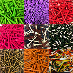 NEW-Zero-Friction-Golf-Wood-Tees-Choose-Quantity-Color-amp-Length
