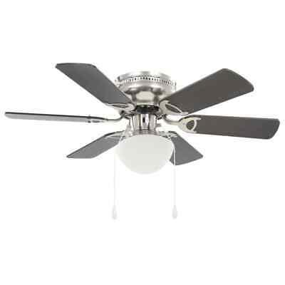 vidaXL Ventilatore da Soffitto Decorato con Luce 82cm Marrone Scuro