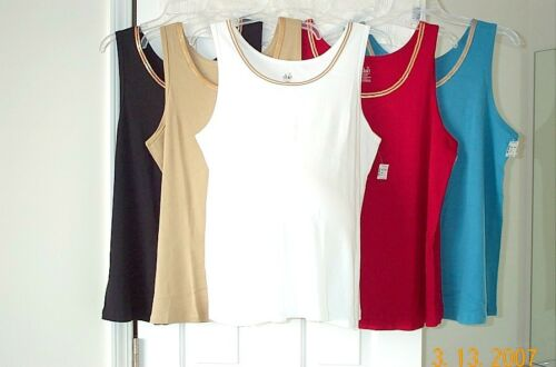 Tank 2X White New Plus Size DUO Maternity Sequin Trim Ribbed Knit Top