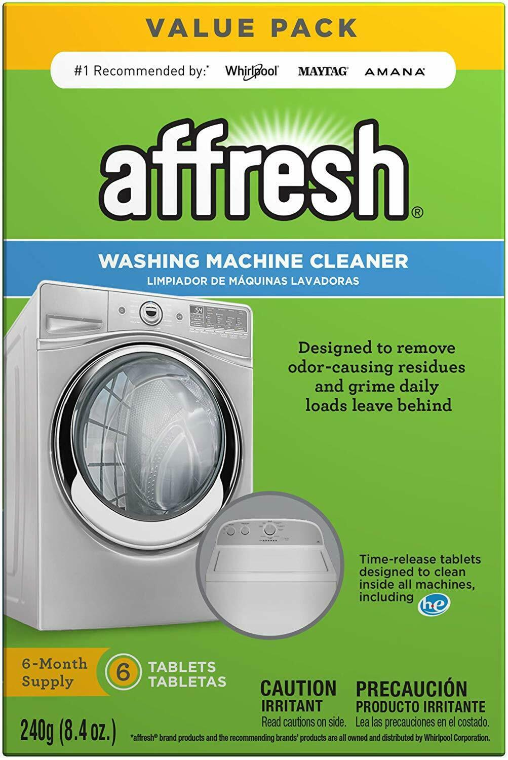 Washing Machine Cleaner, 6 Tablets   Cleans Front Load & Top Load Washers