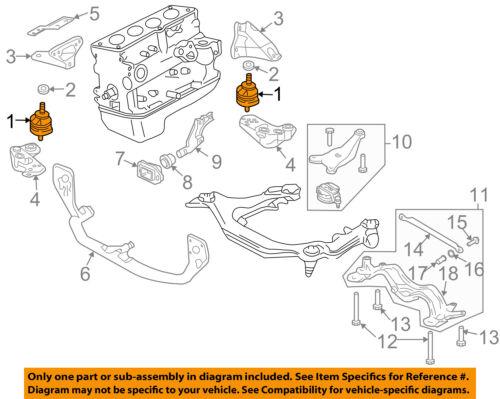 AUDI OEM 02-05 A4 Quattro-Engine Motor Mount Torque Strut 8E0199382AH