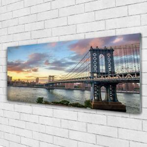 Impression sur verre Image tableaux 125x50 Architecture Pont Ville