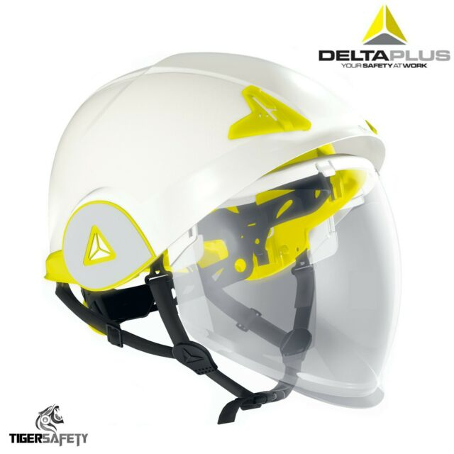 Delta Plus Onice Doppio Guscio Integrato Retraibile Visiera Safety Casco Elmetto