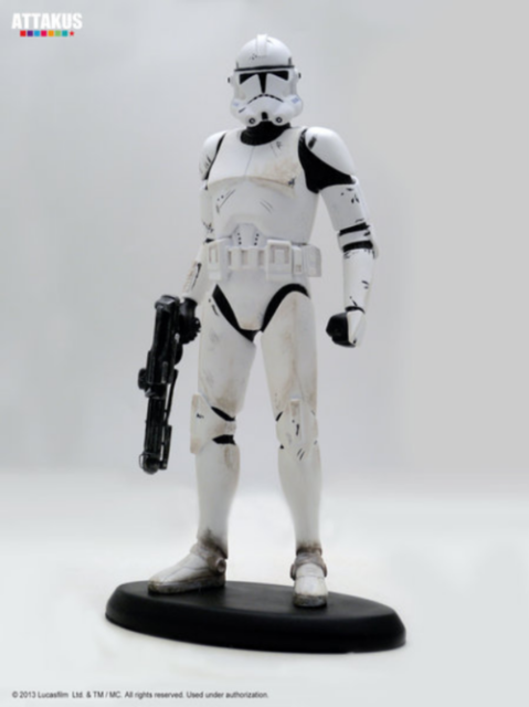 Attakus Star Wars Revenge Of The Sith Clone Trooper Classic Statue 1 10th For Sale Online Ebay