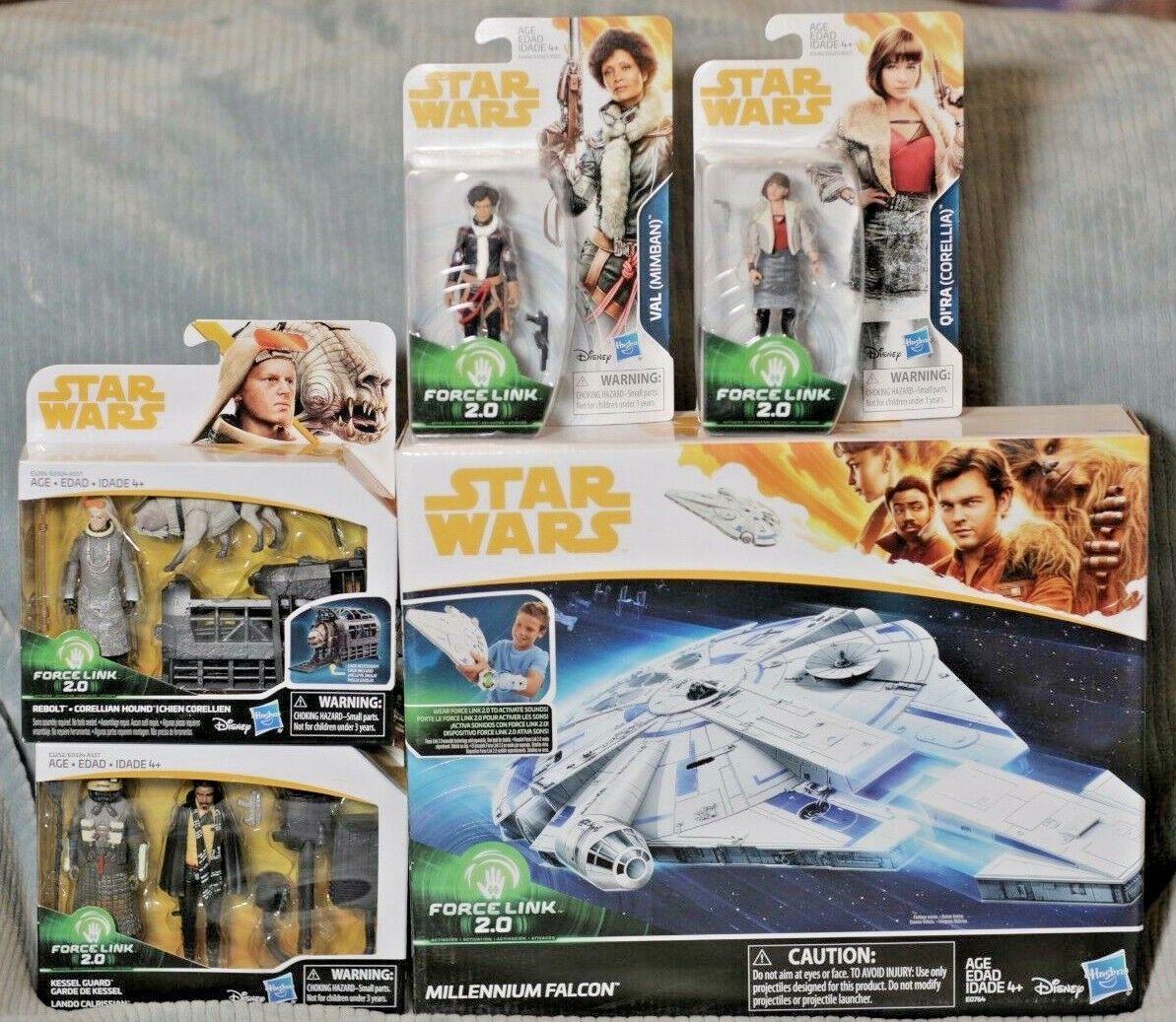 Star Wars Force Link 2.0 Millennium Falcon with Rebolt, Lando, Qi'ra, & Val SOLO