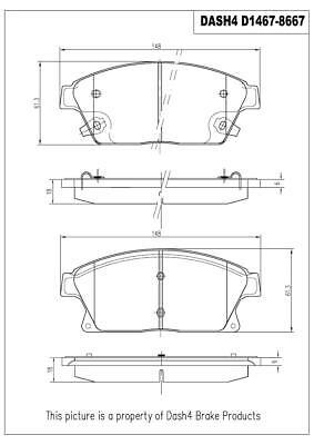 Dash4 CD587 Ceramic Brake Pad