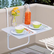 Mesa Para Balcón Colgante Blanco De Patio Plegable Jardín