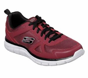 Skechers-Men-039-s-Wide-Width-Memory-Foam-Training-Shoes-Track-52631W-Burgundy-Black