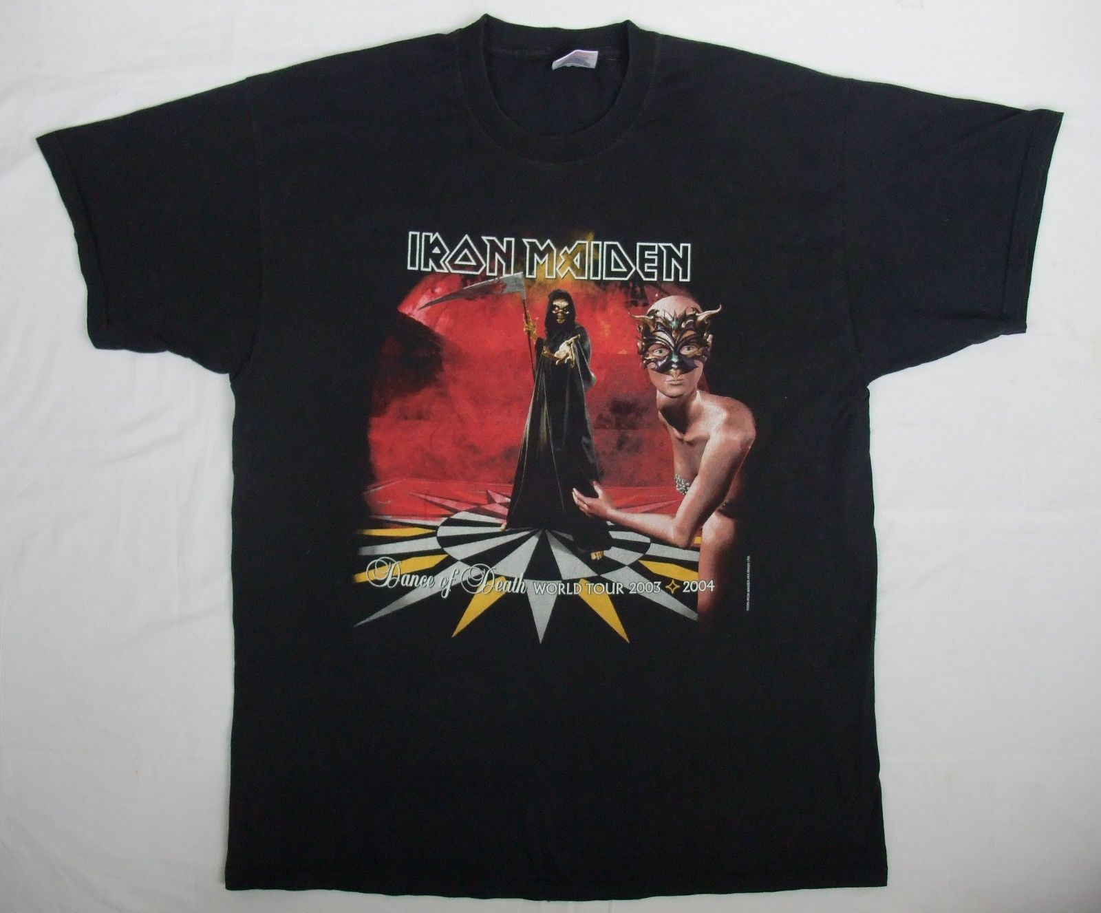 Iron Maiden Dance of the Death rare vtg 2000's UK tour concert t-shirt XL