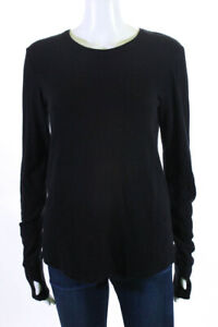 Feel-the-Piece-Terre-Jacobs-Womens-Crew-Neck-Sweater-Black-Size-Medium-Large