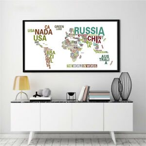 Banner world map abstract the world in words canvas poster paint no image is loading banner world map abstract the world in words gumiabroncs Gallery