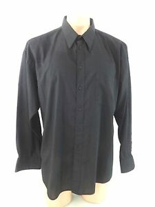JAY-JACOBS-MENS-BLACK-POLY-COTTON-SHIRT-SIZE-XL-17-17-5-34-35-SLEEVES