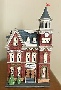 Vintage-Dept-56-Heritage-Village-Collection-Brighton-School-Light-Up-Porcelain