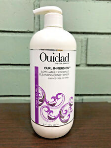 Ouidad-Curl-Immersion-Low-Lather-Coconut-Cleansing-Conditioner-16oz-W-PUMP-NEW