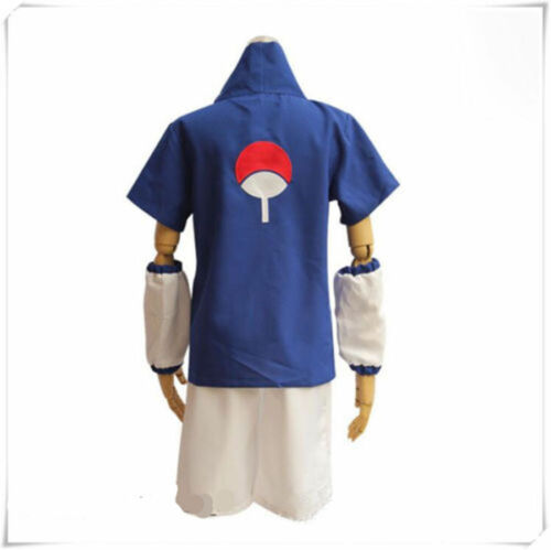 Hot Sale Anime Uchiha Sasuke Cosplay Costume Outfit Kid/'s Uniform Suit