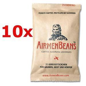 Airmen-Beans-10x-caffe-tavolette-GUARANA-210-ST-caffeina-zucchero-airmenbeans-libero