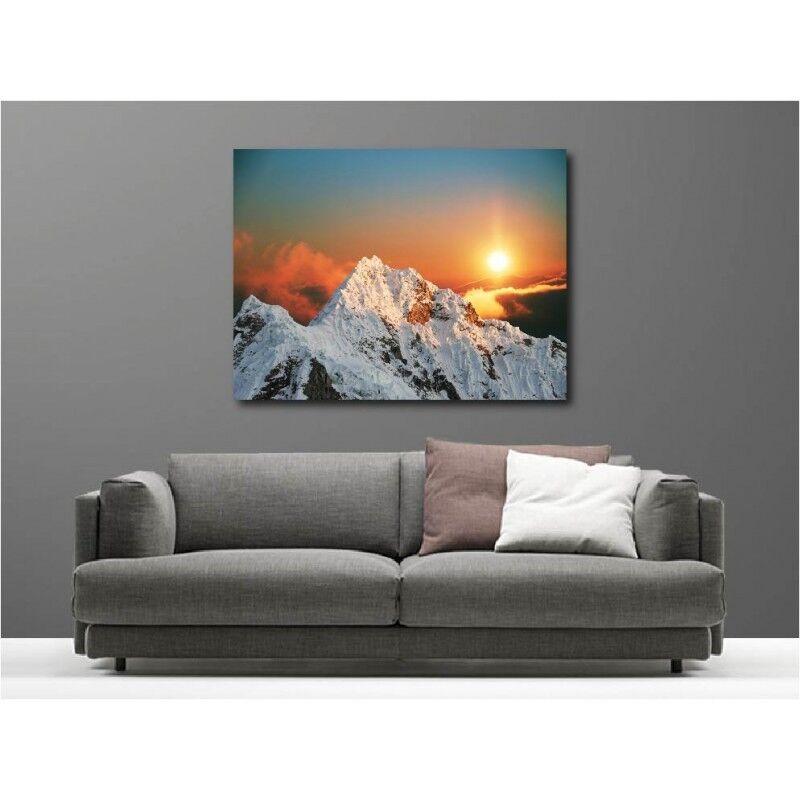Tableau toile déco Montagne couché de soleil 3754195