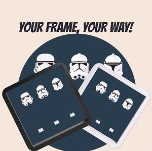 100% De Qualité Figues De Lego Star Wars Clone Stormtroopers Figurines Affichage Cas Picture Frame