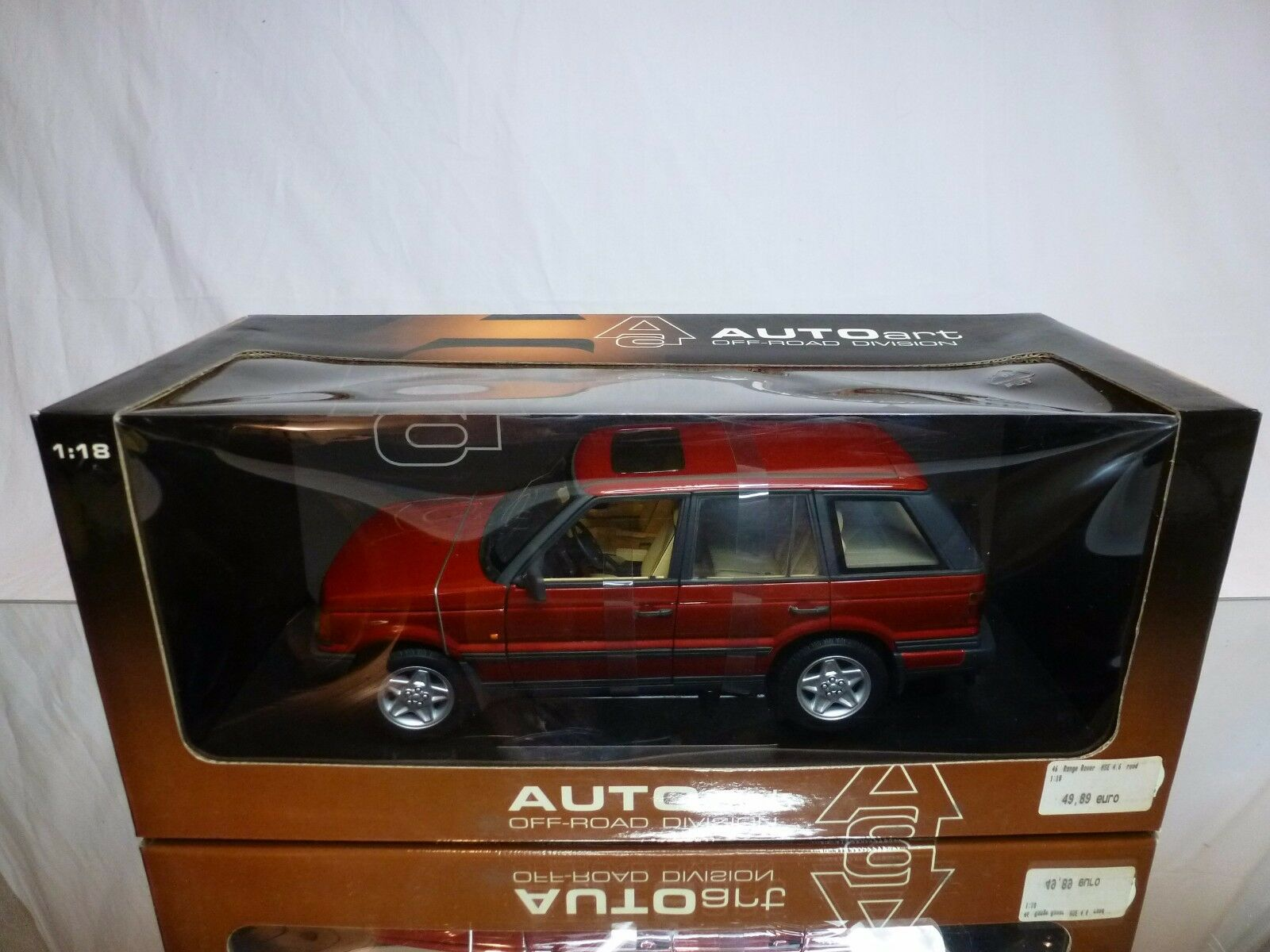 AUTOART 70012 RANGE ROVER 4.6 HSE LHD - rosso 1 18 - BOXED + TRANSPORT STRAPS CAR