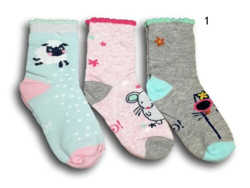 Baby Toddler Girl Kids Cotton Soft Socks 3 Pairs Multi Buy Size 9-24 Months