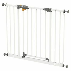 BABY-SAFETY-GATE-PET-DOG-CHILD-DOOR-STAIR-SECURITY-BARRIER-KIDS-PLAY-NEW-WHITE