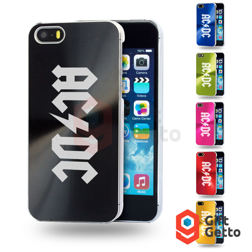 Acdc Ac Dc Rock Band Logo Engraved Personalized Metal Cover Case Iphone 5 5s