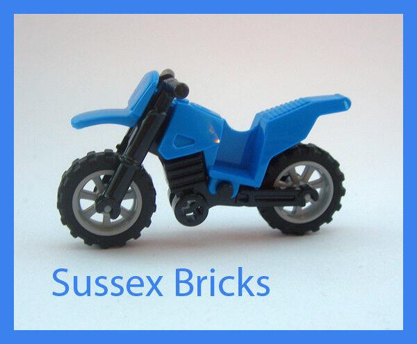 Lego-Bleu Dirt Bike Bike Bike Moto Moto Motocross-VILLE-De Nouvelles Pièces 77f8e9