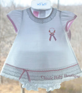 866b1d252 Details about NWT Will'beth White Pink Vintage 2pc Lace Dress Preemie Baby  Girls Size 00