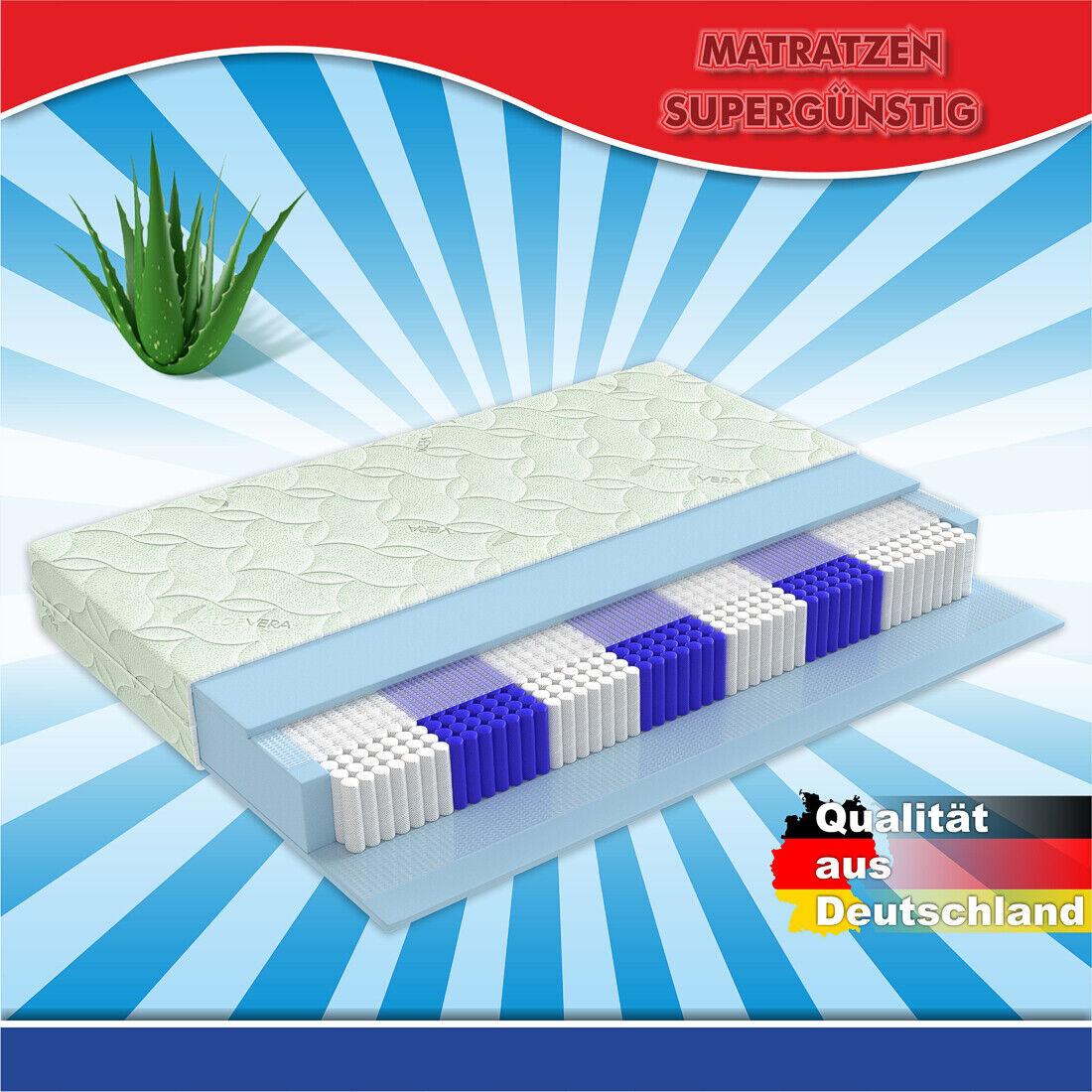 1000 Federn Tonnentaschenfederkern Matratze H3 80x200cm