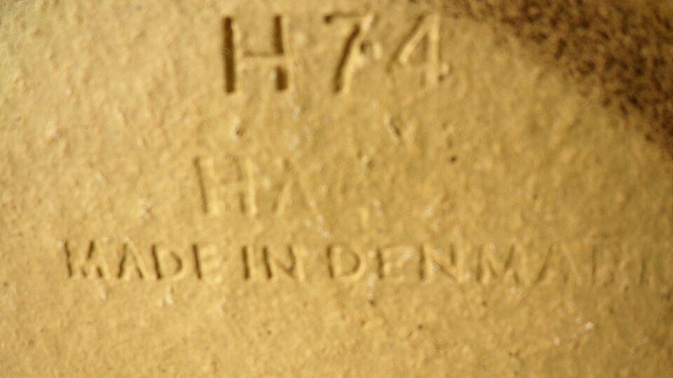 Keramik, Bordfad, H74 Made in Denmark