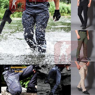 Mens Tactical Pants Combat BDU QuickDry Waterproof Lightweight Cargo Hiking IX9