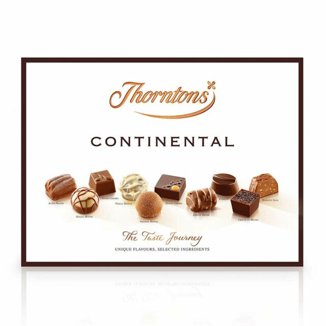 Thorntons Continental Box Of Luxury Chocolates 284g Great Gift For Her Wife New