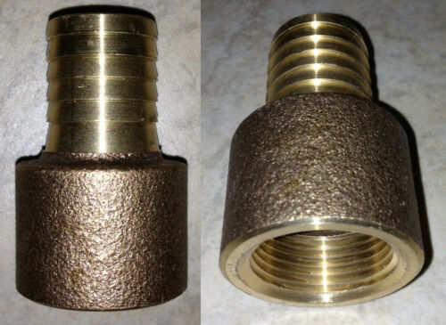 """1-1//4/"""" FPT x BARB BRASS WATER WELL PUMP POLY PIPE BARBED INSERT FEMALE ADAPTER"""