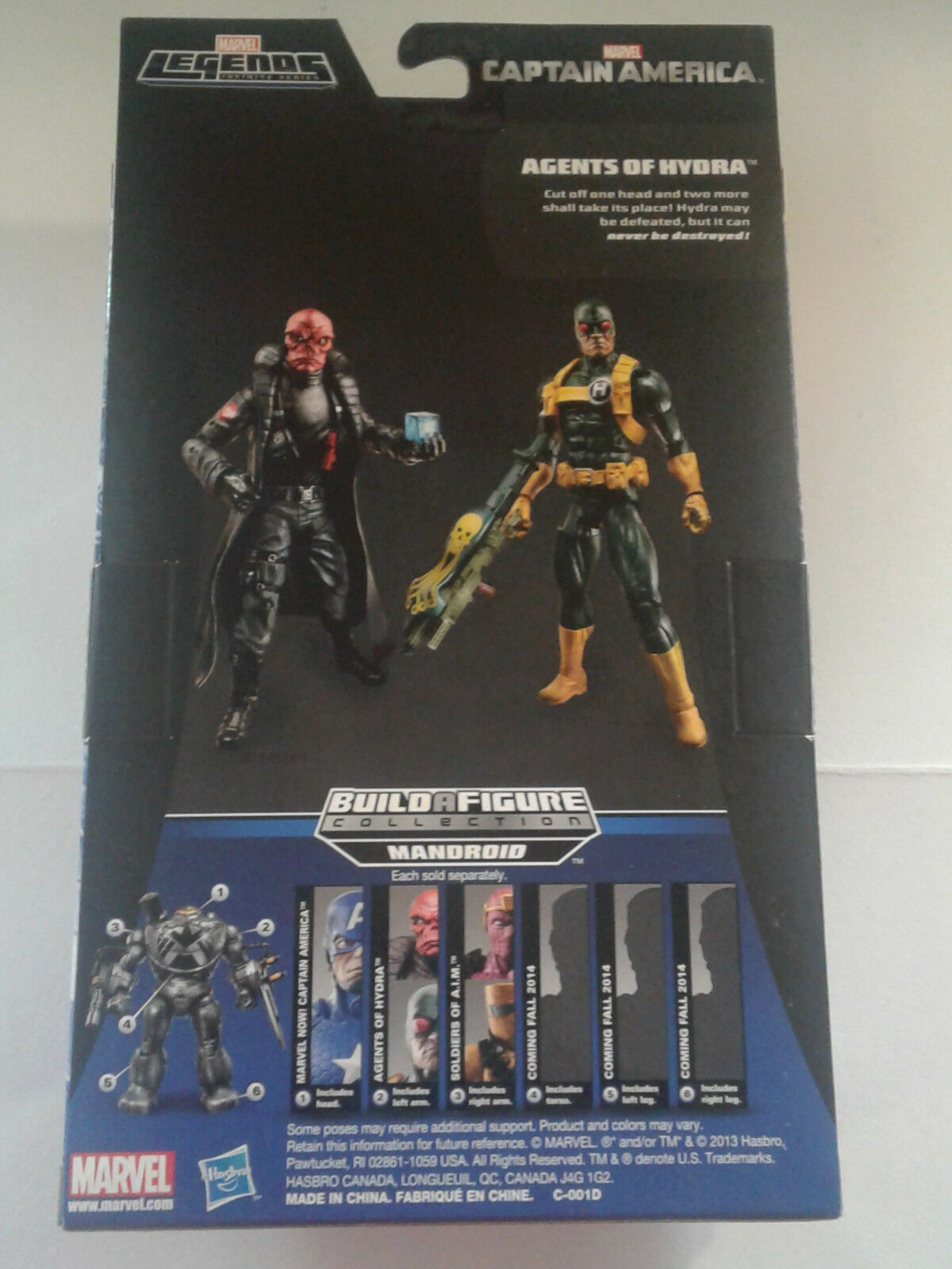 Marvel Legends NEW NEW NEW - HYDRA SOLDIER - Mandroid BAF Right Arm AIM SOLDIER d7058d