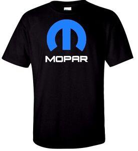 Mopar-Dodge-Chrysler-T-Shirt-Hemi-Ram-Truck-Race-Mens-Tee-Retro-Black-White