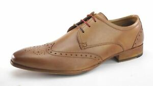 Frank 3 James Mens Up Eye Shoes Clapham Tan Lace Brogue Leather RxUqwRCr7