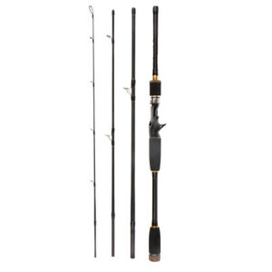 Baitcast Casting Rod 4-pieces Fishing Rod 10-25g Lure Weight Travel Rod 3.0m
