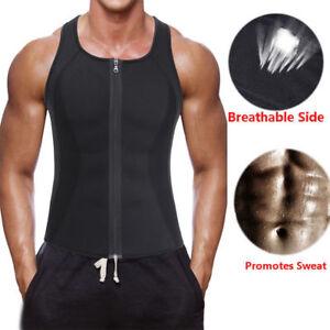 6aa380f39ae Image is loading Mens-Shaper-Corset-Sweating-Vest-Body-Tummy-Control-