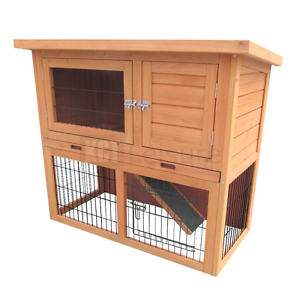 Image Is Loading 3ft Outdoor Rabbit Hutch And Run With 2