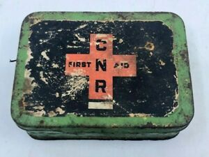Vintage-1950-Canadian-National-Railroad-CNR-First-Aid-Kit-with-Contents
