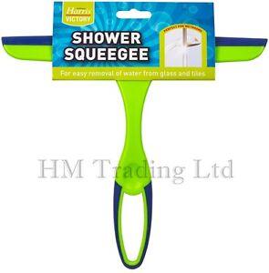 Harris-Glass-Window-Tile-Mirror-Shower-Squeegee-Soap-Wipe-Cleaner-Rubber-Blade