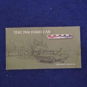 Original 1961 Ford Motor Company Car Owners Manual See Pics Ebay