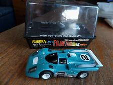 Boxed AFX-Aurora Ferrari 512M w. LIGHTS, rebuilt magnatraction 1974, HO car Tomy