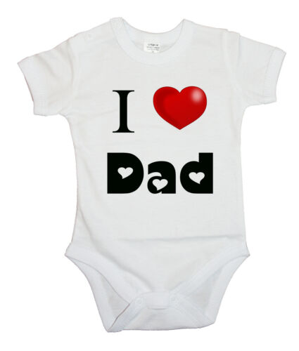 BODYSUIT KURZARM // LANGARM I Love DAD 1 Heart BABY BODY
